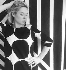 Marimekko Fabric Dress Tunic Black White Kivet