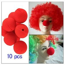 10Pcs Masquerade Party CARNIVAL Soft Sponge Ball Red Clown Magic Nose Halloween