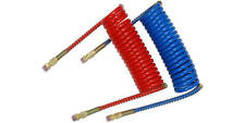 15 ft. Air Brake Hose Heavy Duty Coiled Red/Blue Set