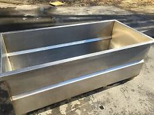 Huge Heavy Gauge Stainless Steel Vat Soak Wash Tub Tank with Outlet / Drain 7'