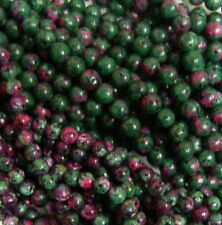 Ruby Zoisite 4mm Natural Gemstone Rondelle Beads 15 Inch Loose