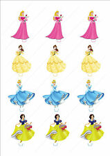 Novelty Disney Princess 4 Mix Stand Up Fairy Cake Cupcake Topper Edible Birthday