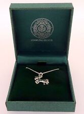 .925 Sterling Silver Pendant & Necklace Gift Boxed Horse Pony