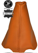 ORANGE LEATHER FITS PEUGEOT 206 206 CC 1998-2012 GEAR GAITER REAL LEATHER