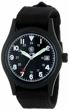 Smith & Wesson Military Watch w/Multi Canvas Strap Black SWW-1464-BK