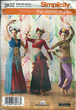 Simplicity Sewing Pattern 3832 Belly Dancer Exotic Tribal Dance Costume SZ 6-12