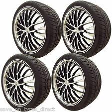 "4 20"" Alloy Wheels & Tyres Mercedes ML 5x112  x4 Polished Black Load"