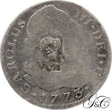 Guadeloupe - 40 Sous - G crowned countermarked on 2 Reales - ND - Very rare !!!