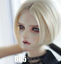 "BJD Doll Hair Wig 8-9"" 1/3 SD DZ DOD LUTS Blonde Straight Short"