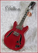 Dillion classic semi hollow Electric mandolin in red