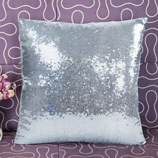 Sequins Sparkly Square Pillow Case Cover Sofa Lounge Bedroom Home Decor Cushion