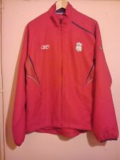 LIVERPOOL FOOTBALL CLUB RED TRACK TOP SIZE M REEBOK OFFICIAL MERCHANDISDE VGC