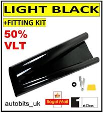 CAR WINDOW TINT FILM TINTING LIGHT BLACK  SMOKE 50% 50cm x 3M