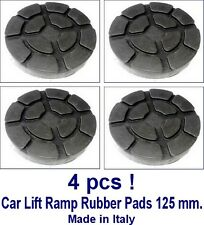 SET OF 4 PADS Ravaglioli 2 Post Car Lift Ramp Rubber Pads - 125 mm - REAL RUBBER