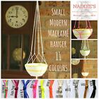 Modern Macrame Plant Terrarium String Rope Hanger. Small : Eleven colour options