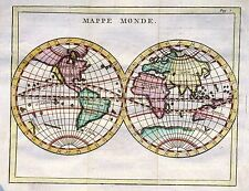 Antique map, Mappe Monde