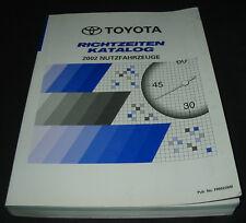 Richtzeiten Katalog Toyota Hilux Hiace HDJ 100 HZJ ACR ACM Nutzfahrzeuge 2002