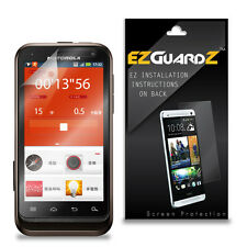 4X EZguardz LCD Screen Protector Skin Cover HD 4X For Motorola Defy XT (Clear)