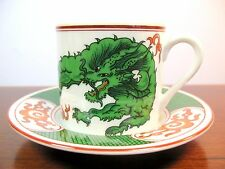 """Fitz & Floyd """"Dragon Crest"""" Demitasse Cup and Saucer EVC"""