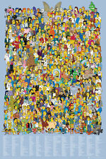 THE SIMPSONS - TV SHOW POSTER / PRINT (THE CAST 2012 / ALL OF SPRINGFIELD)