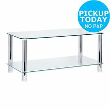 Hygena Matrix Coffee Table - Clear Glass. From the Official Argos Shop on ebay