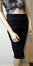 ZARA Woman Tailored Black Smart Formal Office Shorts Cropped Trousers Size 36 10