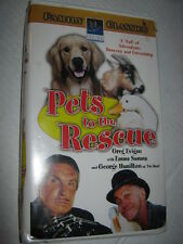 PETS TO THE RESCUE, VHS, CLAM SHELL, GEORGE HAMILTON, EMMA SAMMS