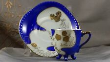 UCAGCO Mod Square DEMITASSE CUP & SAUCER Royal Blue & Gold   WOW Super Cool