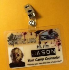 Friday The 13th ID Badge-Jason cosplay prop costume
