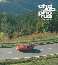 1987 PORSCHE CHRISTOPHORUS MAGAZIN NR 204 928, 959 TARGA FLORIO DEUTSCH