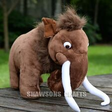 "ICE AGE 3 CHARACTER TOYS 15"" MANNY SOFT DOLL MAMMOTH PLUSH STUFFED FIGURE"