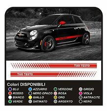 ADESIVI LATERALI FIANCATE per Fiat 500 695 ABARTH stickers decals side lato