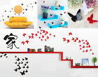 3D DIY Wall Sticker Stickers Butterfly Home Decor Room Decorations 3 color 12pcs