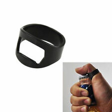 Finger Ring Bottle Opener Black Stainless Steel Novelty Bar Tool Waiter Beer 1pc