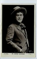 (Gi362-376) Real Photo of Theatre Star George Alexander 1906 VG-EX Beagles G515A