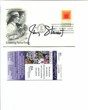 JIMMY STEWART HAND SIGNED EDUCATION IN AMERICA FIRST DAY COVER      RARE     JSA
