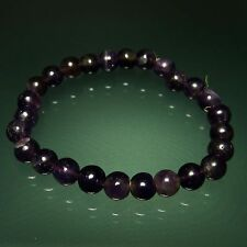 Fashionable Amethyst Beads Stretchable Bracelet Reiki Fashion Jewelry Gemstone