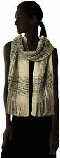 Joe Browns Womens Large Lurex Scarf - Cream/Navy/Fashion/Style/Metallic/Cosy/NEW