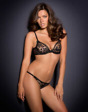 AGENT PROVOCATEUR SOLD OUT BLACK LACE DENVER BRA SIZE 36C & SIZE 2 OUVERT BRIEF