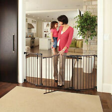 "30"" Tall Extra Wide Infant Baby Child Pet Walk Thru Safety Security Gate Decor"