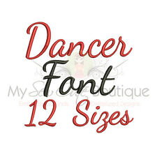 Dancer Script Machine Embroidery Font - 12 Sizes - IMPFCD41