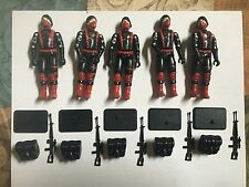 Black Major Custom GI Joe Black & Red Cobra Trooper Red Logo X5