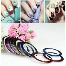 New Mixed Colors Rolls Striping Tape Line DIY Nail Art Tips Decoration Sticker