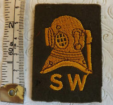 A Military  Army Shallow Water Diver Cloth Formation Badge (2037)