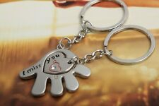 New Couple I Miss YOU Keychain Ring Keyring Couple Key Chain Christmas Gift