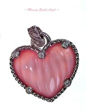 ❤ Judith Ripka Sterling Silver Rose Quartz Doublet Heart Enhancer ~NEW~ ❤