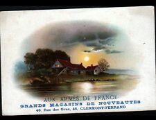 "CLERMONT-FERRAND (63) Carte chromo MAGASIN de MODE ""AUX ARMES DE FRANCE"""
