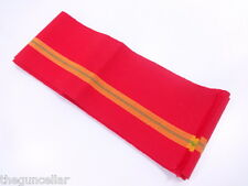 VINTAGE HANHABA OBI FOR JAPANESE KIMONO, BEAUTIFUL MATERIAL, 10.6 ft LONG, RED