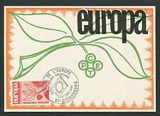 FRANCE MK 1965 EUROPA CEPT STRASBURG MAXIMUMKARTE CARTE MAXIMUM CARD MC CM d5285