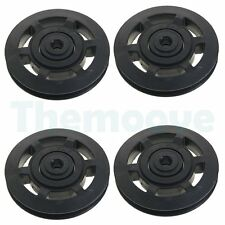 4pcs Universal 95mm plastic Bearing Pulley Wheel for Gym Fitness Equipment